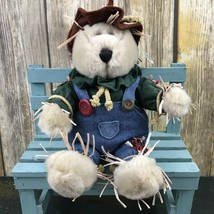 Starbucks 2001 16th Edition Fall Scarecrow Bearista Bear 10'' Plush Collectible  - $21.28