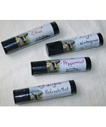 Happy Lips-lip balm, Citrus, Wintergreen, Peppermint, RefreshMint by Jewel Soap  - $3.00