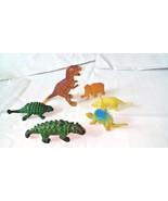 "Dinosaur Models Figurines Six Colored Dinosaurs  2 1/2"" - 4 1/2 "" - $4.90"