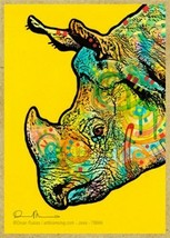 Rhinoceros Rhino Wildlife Colorful Pop Art Fridge Wood Magnet 2.5x3.5 NE... - $5.86