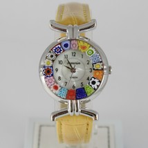 ANTICA MURRINA VENEZIA MEMORIES QUARTZ WATCH 27 MM, YELLOW, MURANO FLOWER GLASS