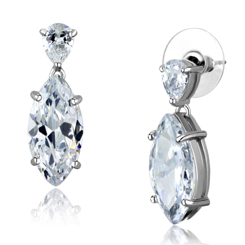 Primary image for Women's Brass Synthetic AAA Grade CZ Clear 18,9(mm) Dangle & Drop Earrings