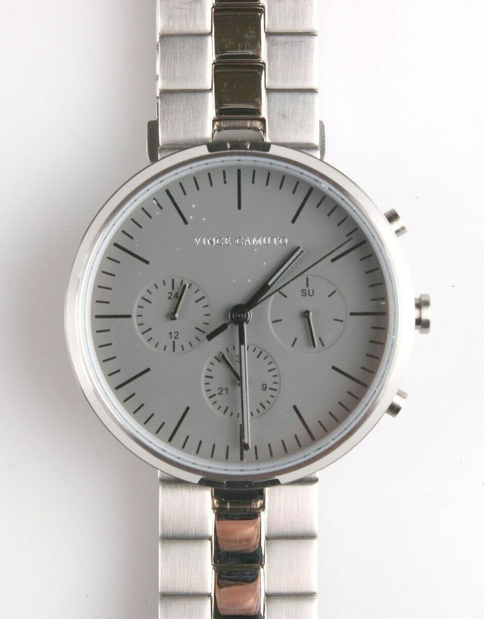 Vince Camuto VC/1098GYSV Men's Multi-Function Gray Dial Stainless Steel Watch