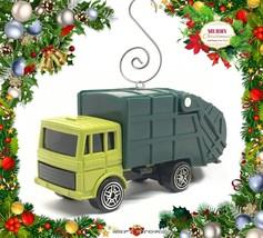 CHRISTMAS ORNAMENT GREEN TRASH TRUCK GARBAGE REFUSE WASTE SERVICE DUMP R... - $28.98