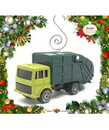 CHRISTMAS ORNAMENT GREEN TRASH TRUCK GARBAGE REFUSE WASTE SERVICE DUMP R... - $23.18