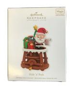 2011 Hallmark Keepsake Ornament Club Hide N Peek Santa Claus Magic Sound... - $16.69