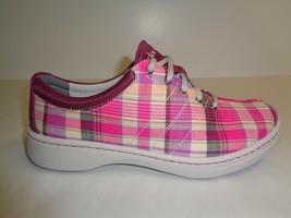Dansko Size 8.5 to 9 BRANDI Pink Madras Fashion Sneakers New Womens Shoes - $107.91
