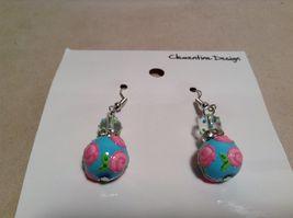 NEW Kate & Macy Hand Painted Glass Bracelet/Earring Sisters Forever Set image 4