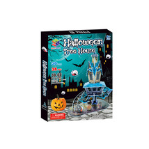 halloween tree house 38 pieces 3D paper DIY puzzle kids toy - $20.00