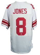 Daniel Jones Signed Custom White Pro-Style Football Jersey BAS - $277.19