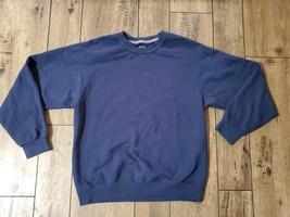 Fruit Of The Loom Navy Blue Lightweight Crew Neck Sweatshirt Unisex Adult Medium - $9.50