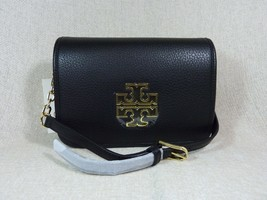 NWT Tory Burch Black Leather Britten Combo Cross Body bag/Clutch  - $425 - $374.22