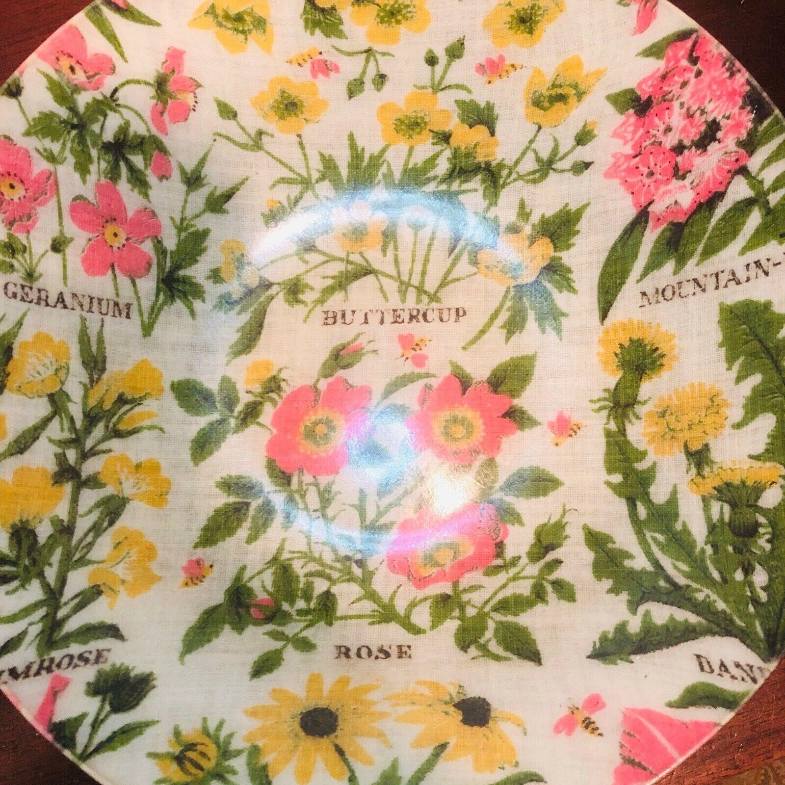 Vtg Fiberglass Salad Bowls 7 Piece Set 1960's MCM Mid Century Floral