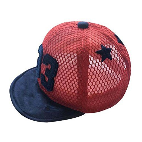 Great Gift for Baby Fashion Sunhat Foldable Beach Hat Summer Hat Cotton Hat Red