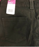 Lee Classic Fit 10 Petite Black Stretch Slimming Just Below Waist Straig... - $29.69