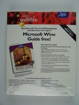 Microsoft Home Wine Guide Software New Sealed - $46.52