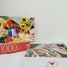 "Cardinal 1000 Piece ""Picnic Time"" Jigsaw Puzzle 24""X18"" Age 10+ - $16.99"