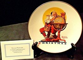 Planning Christmas by Norman Rockwell Plate with Box( Gorham ) AA20-CP2178 image 8