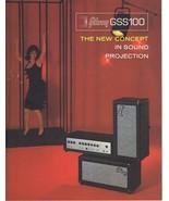ORIGINAL Vintage 1960s Gibson GSS100 Amplifiers Catalog - $29.69