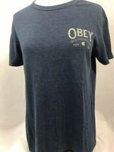"""Obey Blau Kurzarm """" Weltweit Propaganda """" T-Shirt Herren Größe Sm - $14.95"""