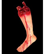 Realistic Life Size LEFT Bloody GORY SEVERED LEG Body Part Halloween Hor... - $18.97