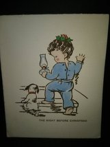 Little Girl & Puppy Vintage Christmas Card - $4.00