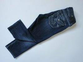 SILVER Jeans SUKI Capri Flap Pocket Sequin Embellished Stretch Crop Jean... - $21.99