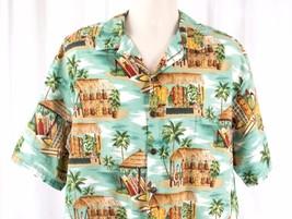 Aloha Hawaiian Shirt Surf Boards Ukuleles Size XL USA Hilo Hattie Coconu... - $22.85