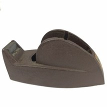 Vintage Texcel Tape Heavy Duty Brown Cast Iron Tape Dispenser Industrial... - $18.64