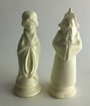 """Vintage Ceramic Figurines Religious Man w/Beard and Woman 5"""" X 1.5"""" Off ... - $9.46"""