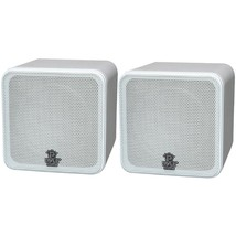 Pyle Home PCB4WT 4 200-Watt Mini-Cube Bookshelf Speakers (White) - $76.20 CAD