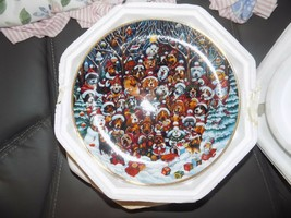 Franklin Mint Santa Paws by Bill Bell Ltd Ed Christmas Dogs Plate NEW - $28.35