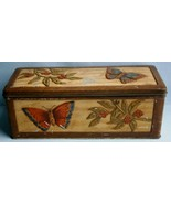 Vintage Biscuit Tin with Butterflies & Berries by W & R Jacobs & Co. Ltd  - $36.10