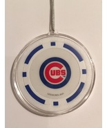 Chicago Cubs Blue Chip Christmas Tree Hanging Ornament Holiday Poker Bas... - $9.99