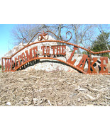 Metal Welcome to the LAKE Sign Wall Entry Gate ... - $179.98