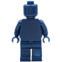 Blue Limited Supplies Blank Unprinted Pure Color Lego Toys Minifigure - $3.25