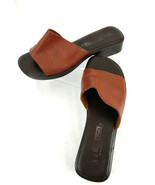The Leather Collection Womens Reddish Brown 7.5W Clogs Slides Heels Shoe... - $18.66