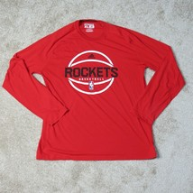 Houston Rockets Adidas Ultimate Tee Adult XL Extra Large Red Mens Long S... - $18.95