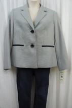Evan Picone Suit Jacket Sz 14 Navy Multi City Chic 2 Button Business Bla... - $39.53