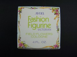 Avon Decanter Fashion Figurine Victorian Field Flowers Cologne 4 Fl Oz O... - $22.56