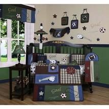 Navy White Nautical 13 pcs Crib Bedding Set Baby Boy Nursery Quilt Bumper Diaper