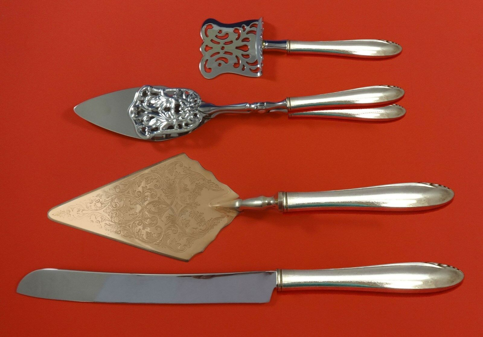 Primary image for Lasting Spring by Oneida Sterling Silver Dessert Serving Set 4pc Custom Made