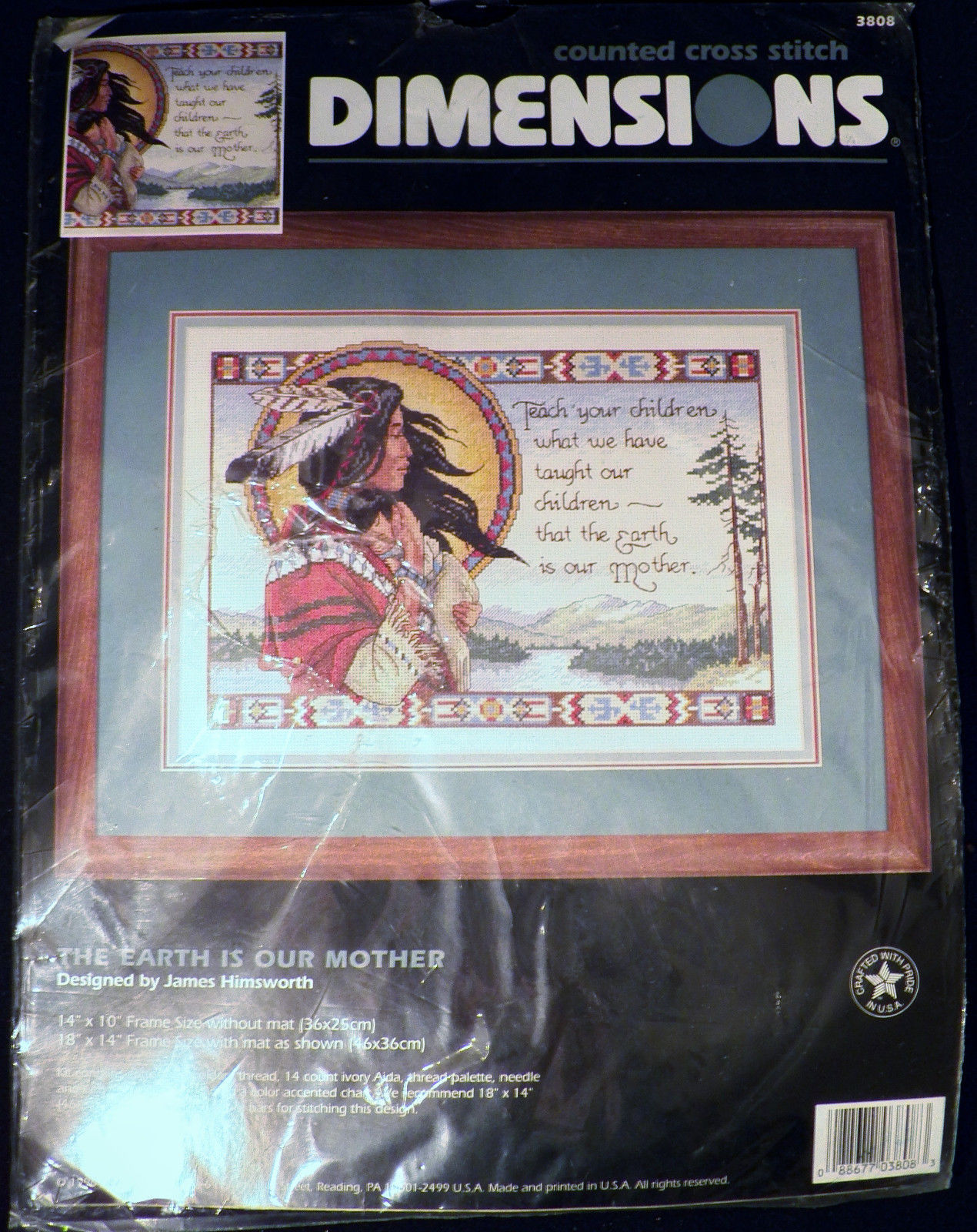 Dimensions James Himsworth 3808 The Earth is Our Mother Counted Cross Stitch Kit