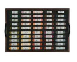 Mungyo Artists Handmade Soft Pastels 200 Colors Set Wooden Case image 5