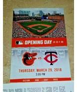 2018 Baltimore Orioles  Opening Day Season Ticket!!! Hard Copy Souvenirs!!! - $1.92