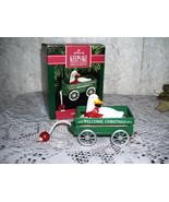HALLMARK ORNAMENT GOOSE CART WELCOME CHRISTMAS 1990 MIB - $16.82