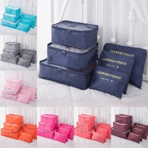 6Pcs/Set Travel Storage Organizer High Capacity Clothes Tidy Pouch Lugga... - $9.99