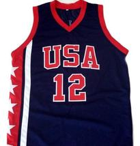 Ray Allen #12 Team USA Men Basketball Jersey Navy Blue Any Size image 1