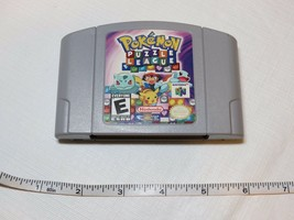Pokemon Puzzle League Nintendo 64 N64 Rare Vintage Video Game Only Propre Esrb image 1