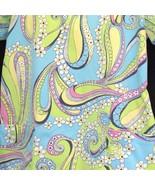 Salus Scrub Top XS Scrubs Pink Blue Yellow Green Cotton Blend SS Gathere... - $14.80